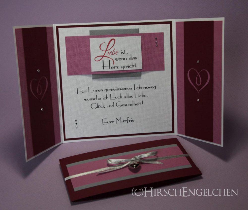 Gatefold-Card zur Hochzeit innen
