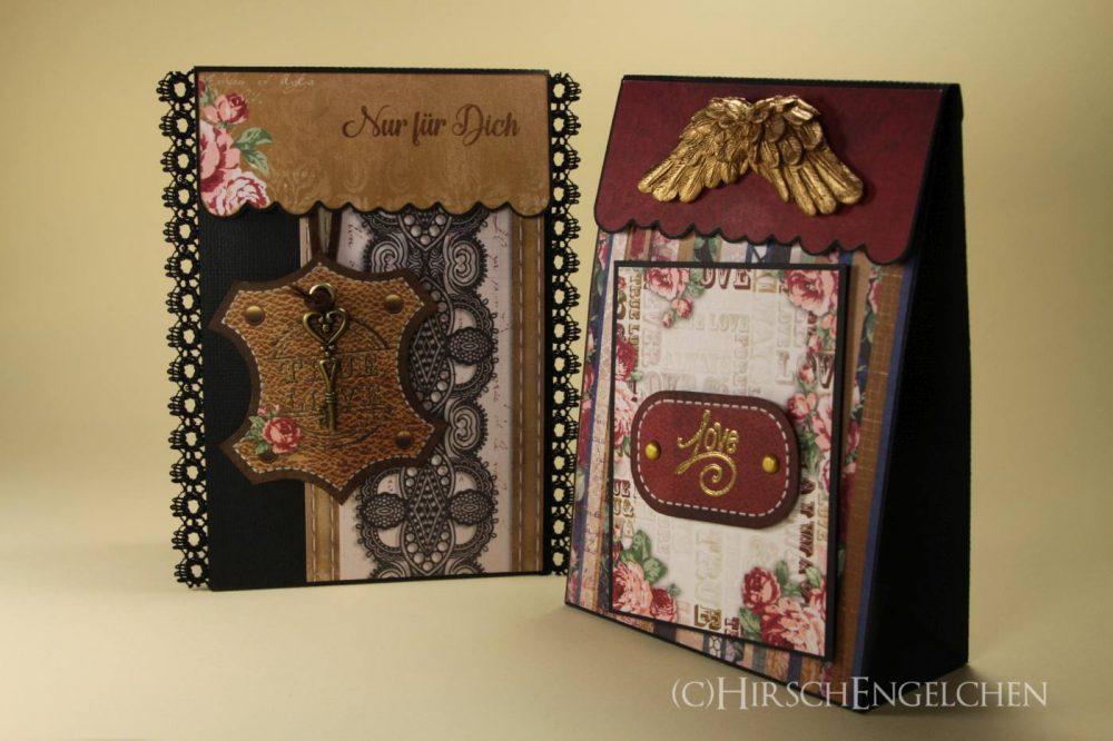 Laschenboxen mit Designpapier von BoBunny