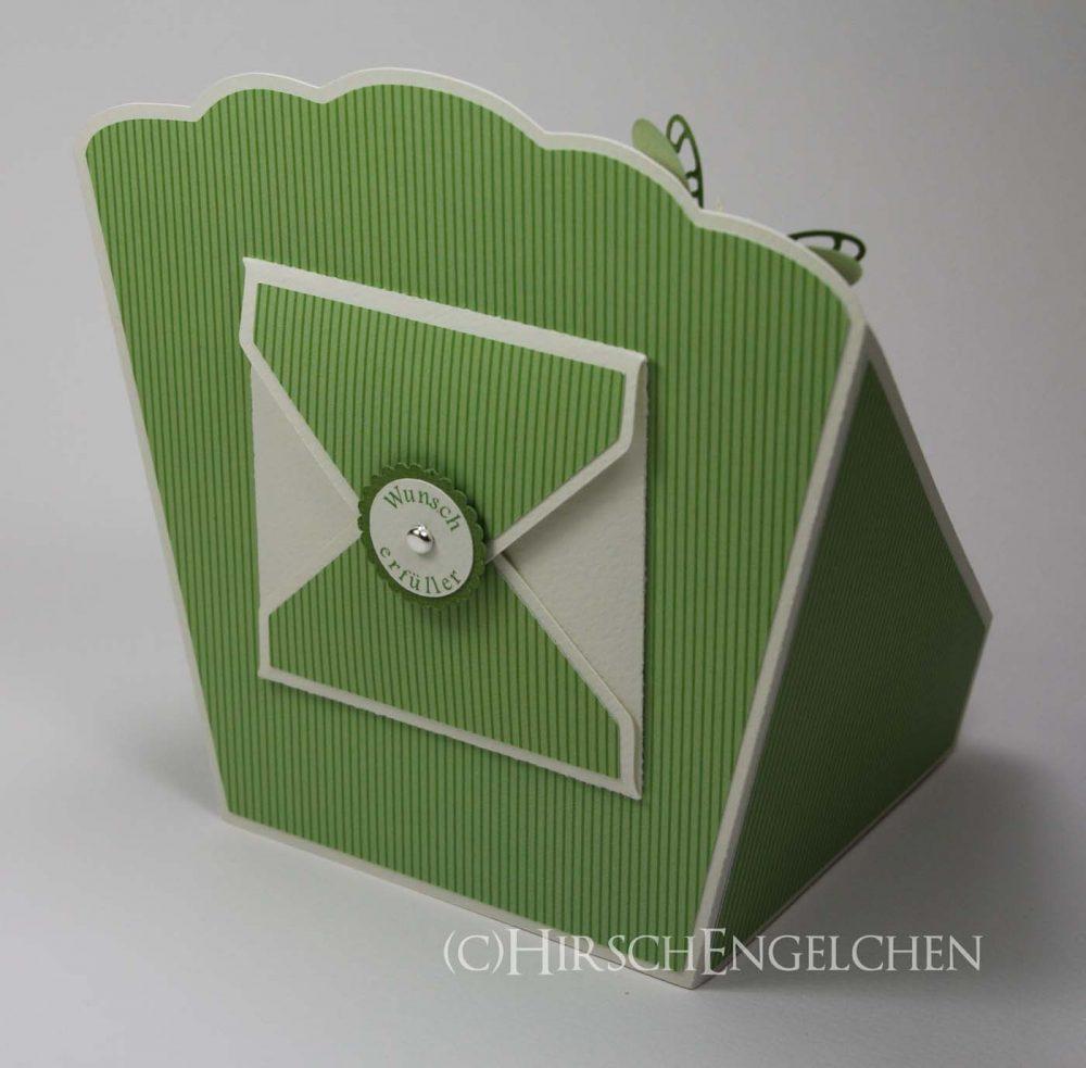 Tee Display grün Rückseite