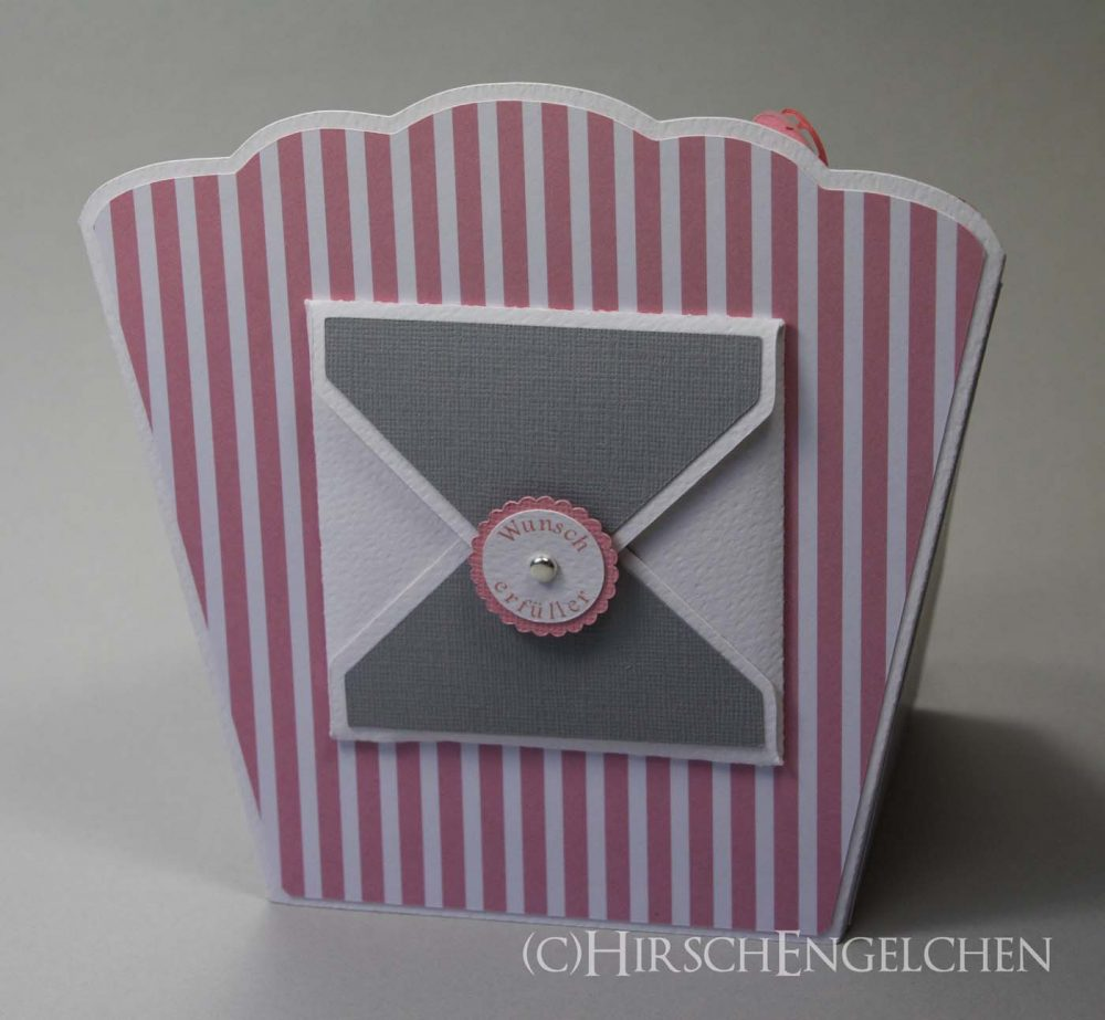Tee Display Sterne grau rosa Rückseite