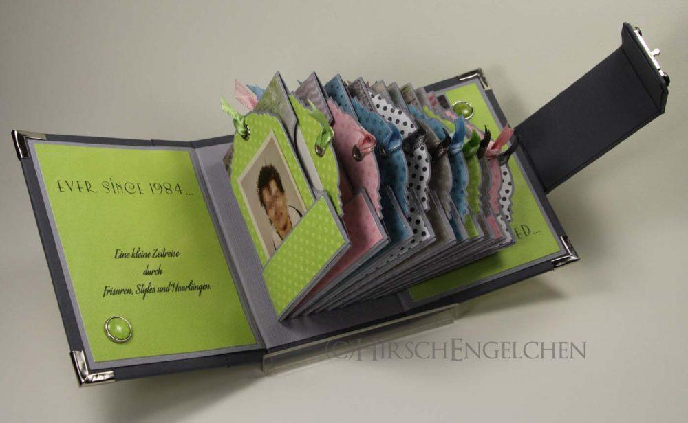 Minialbum Passbilder aufgeschlagen