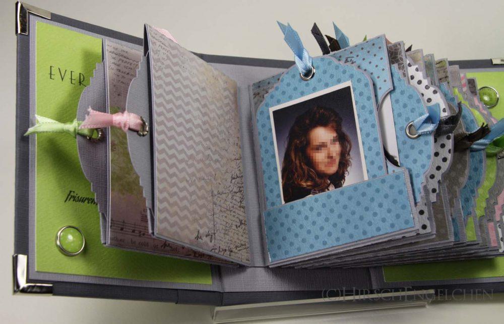 Minialbum Passbilder Seiten innen