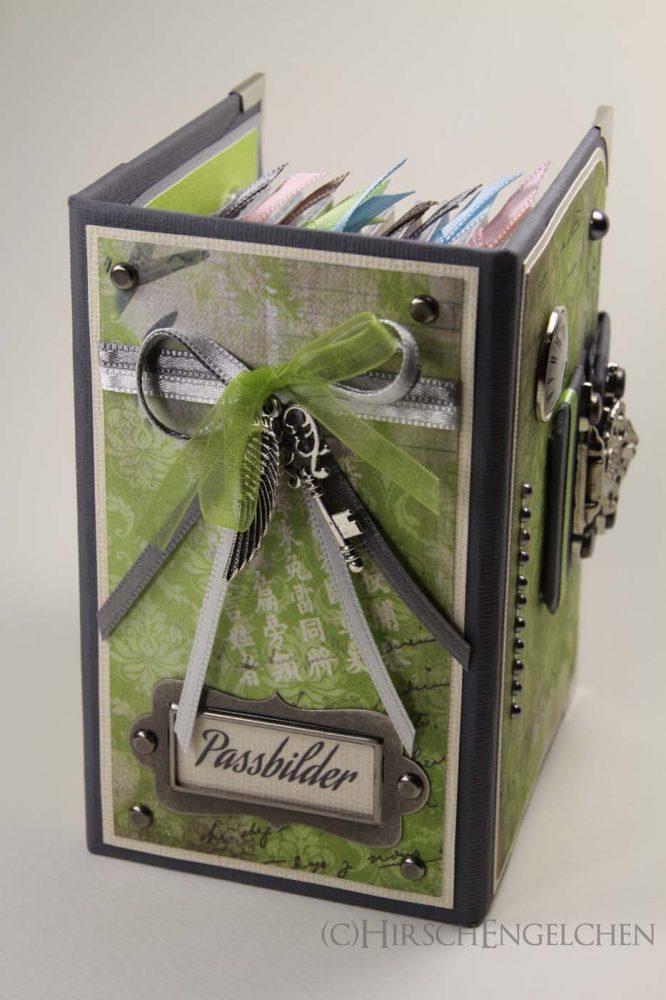 Minialbum Passbilder Rücken