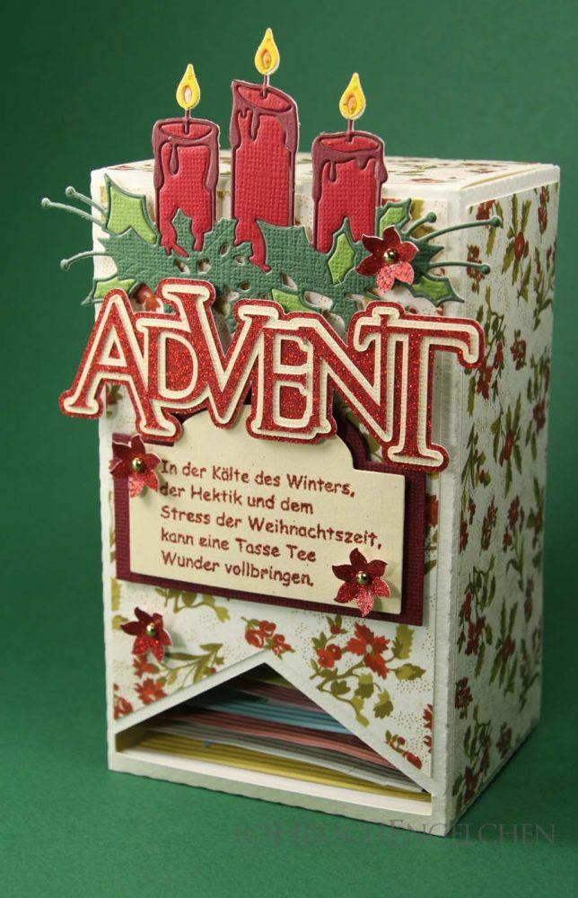 Teebeutel Adventskalender Kerzen
