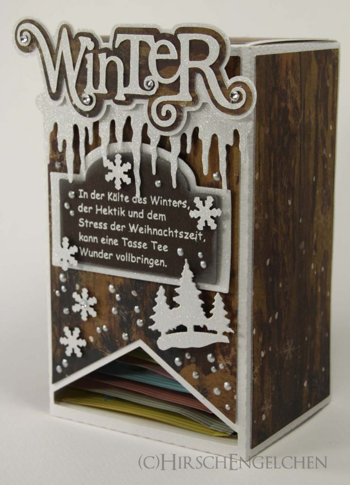 Teebeutel Adventskalender Winter braun