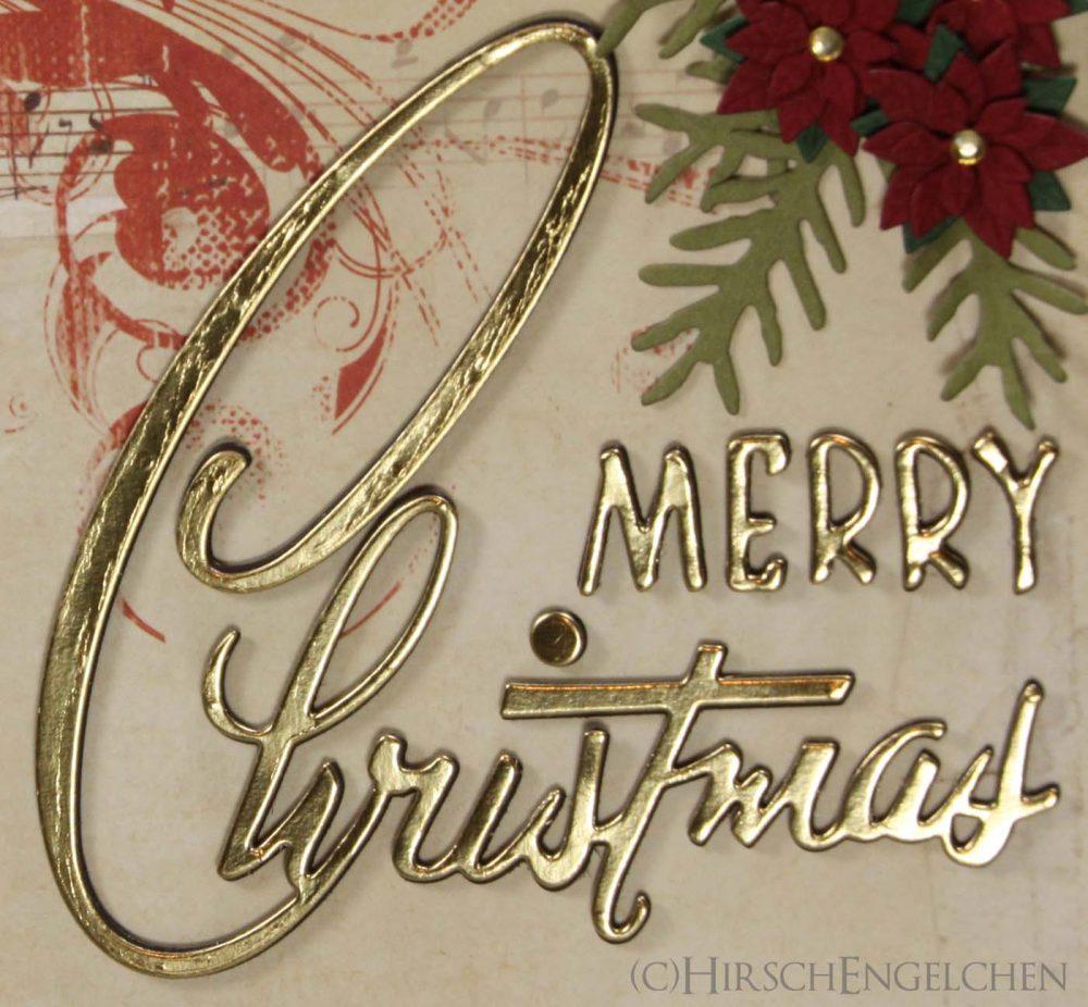 Weihnachtskarte Vintage Detail Schriftzug