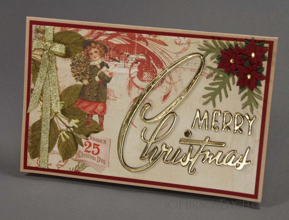 Weihnachtskarte Vintage Front