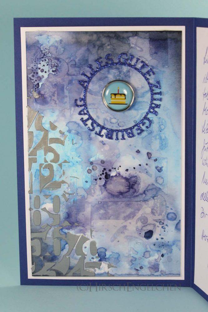 birthday card blue inside