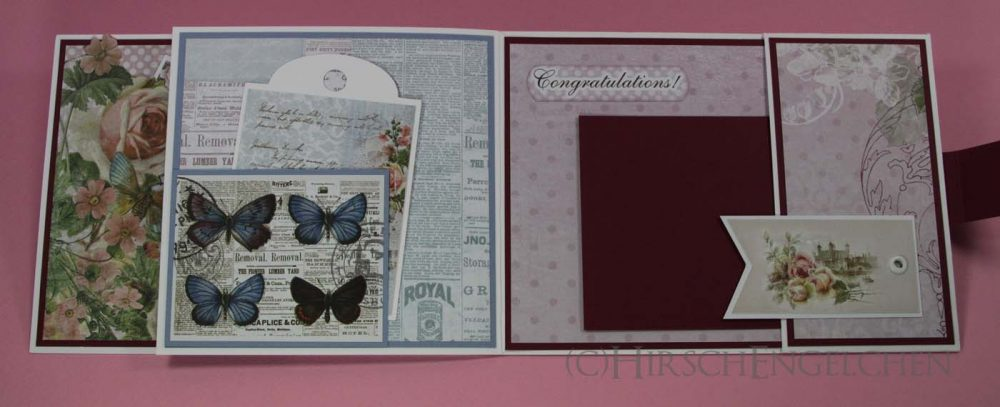 birthday set rose blue card inside right