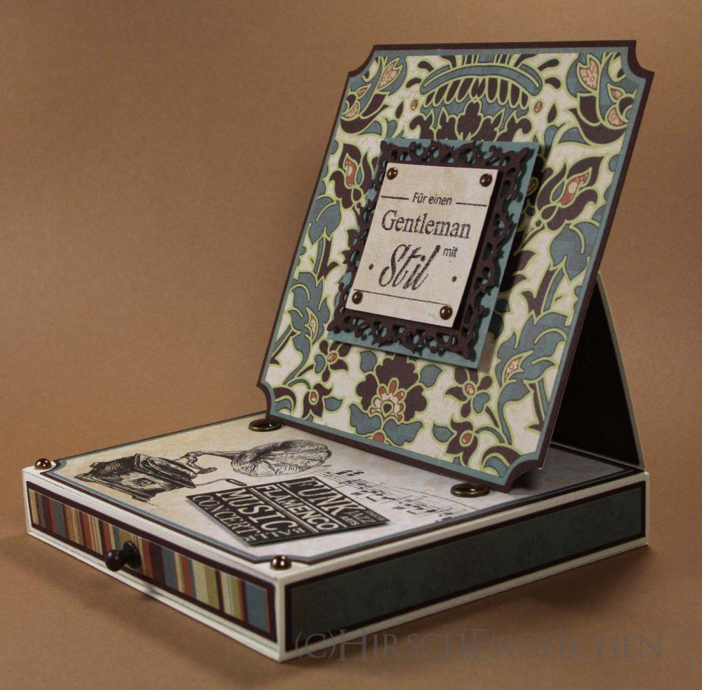 Easel Card Box side