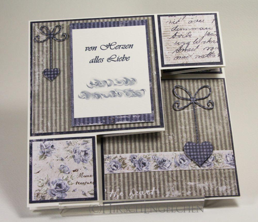 Vintage Z-fold Card Back