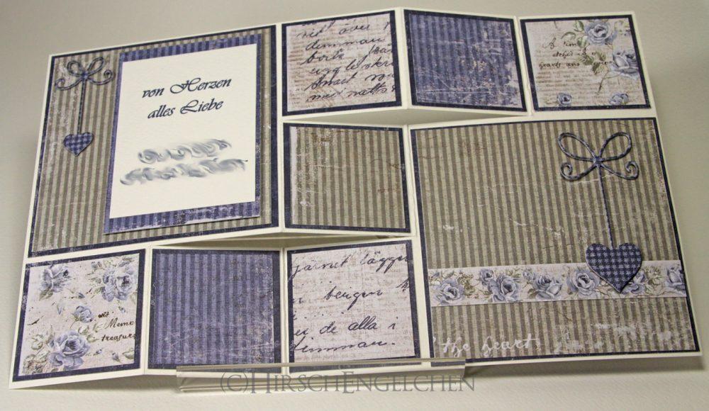Vintage Z-fold Card flat