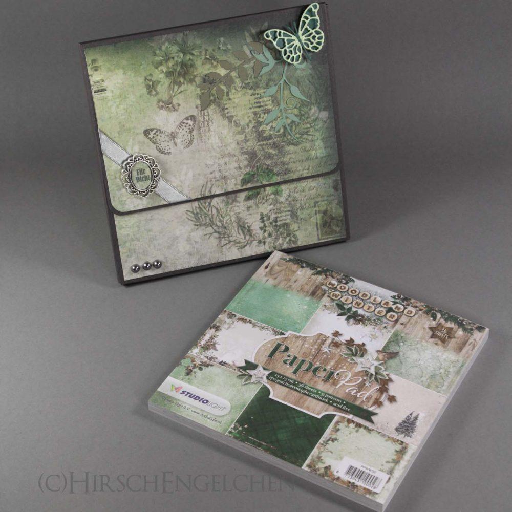 Papierblock Verpackung in grün