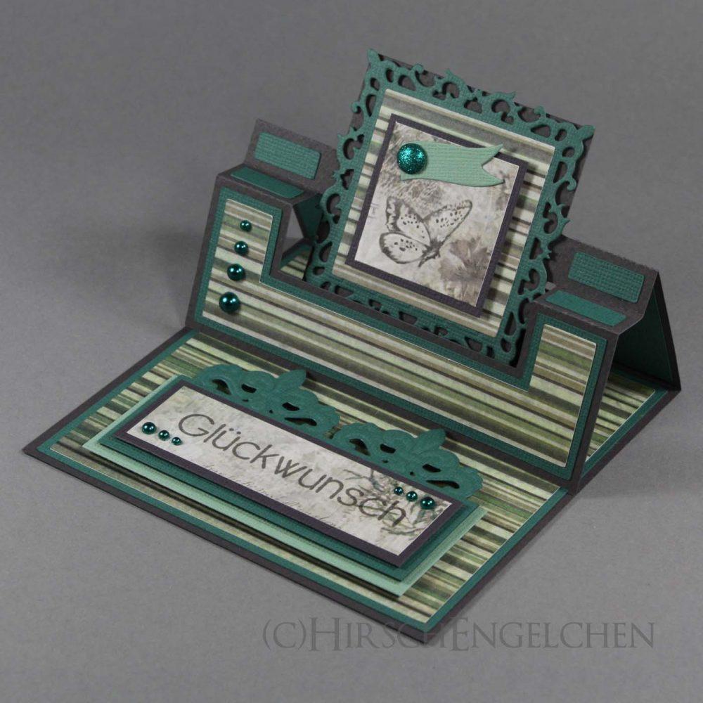 Swing Easel Karte in grün