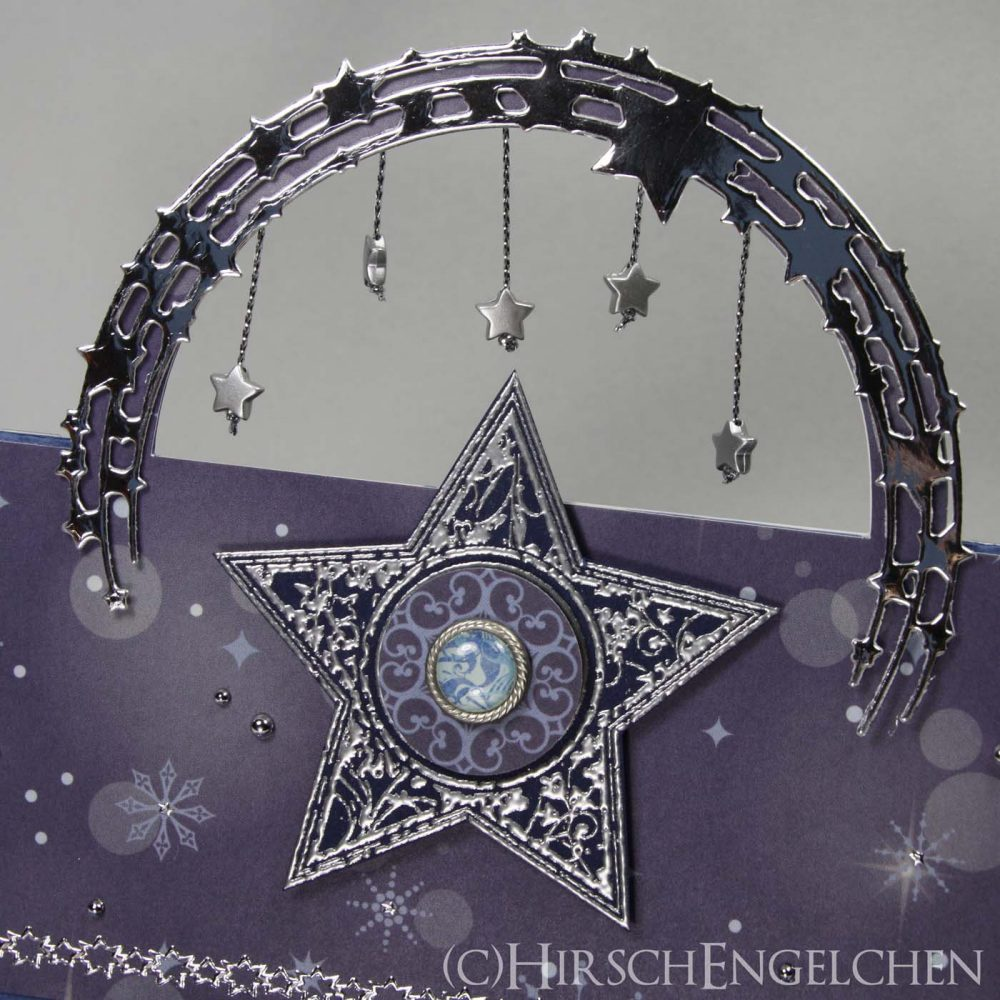 Magic Stars Flying Easel Card