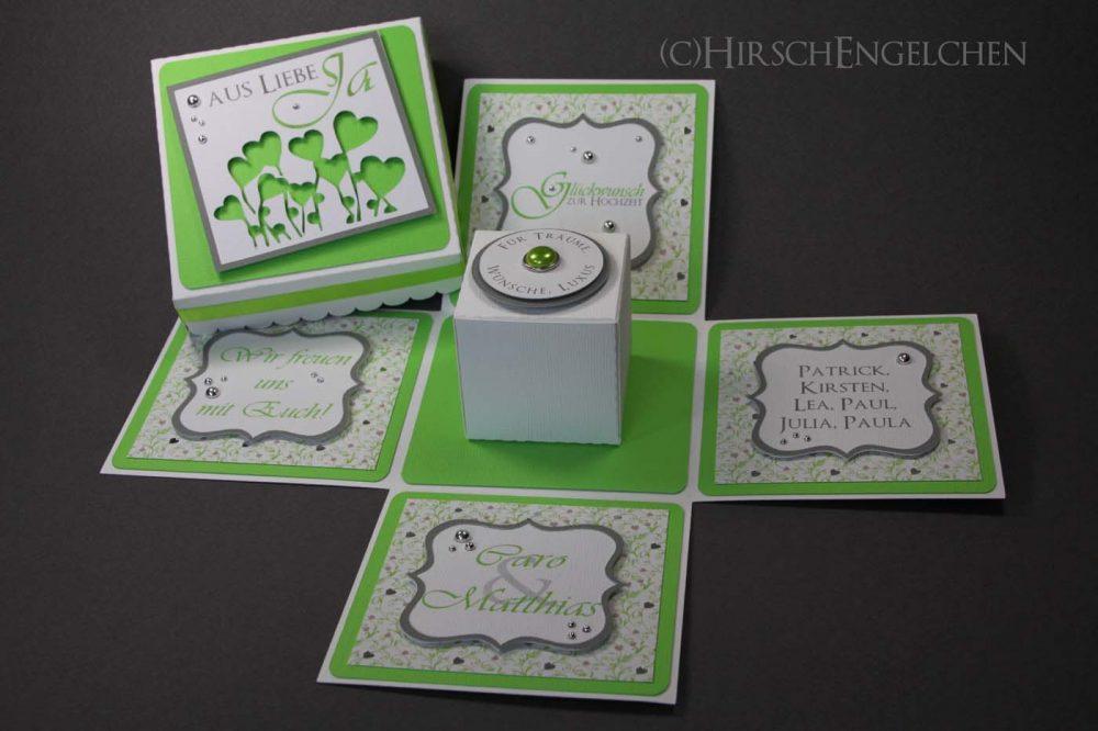 Explosion Box zur Hochzeit