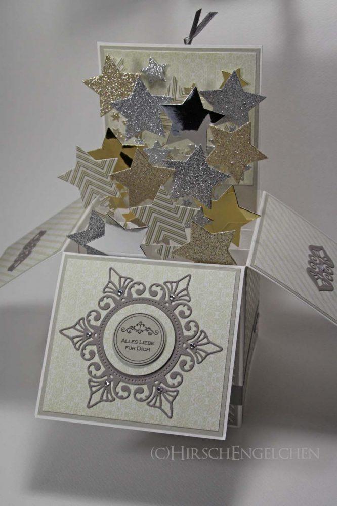Popup Box Karte Sterne