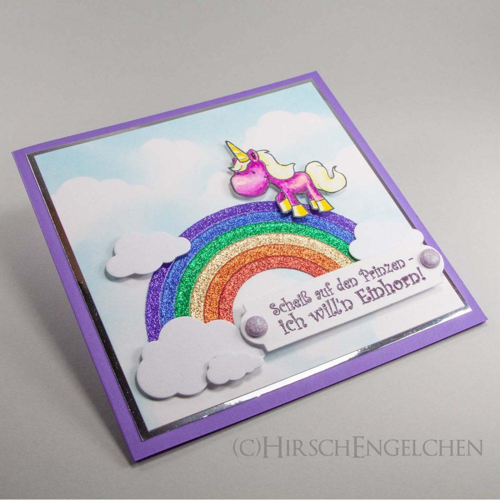 Regenbogen und Einhorn