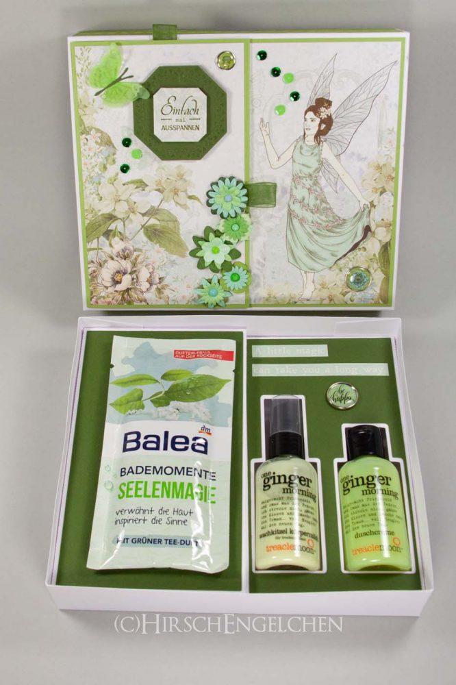 Verpackung für Kosmetik mit Einsätzen für Fläschchen