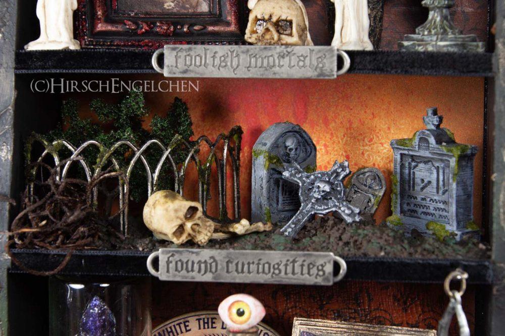 Spooky Halloween Diorama On the cemetery