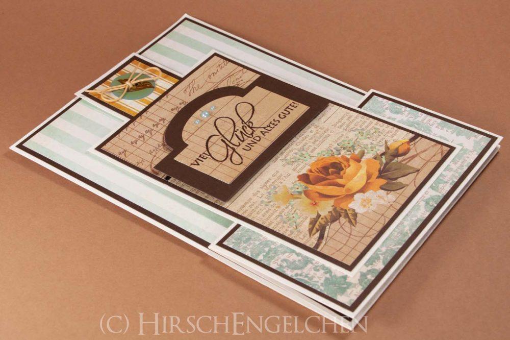 Standing z-fold Card