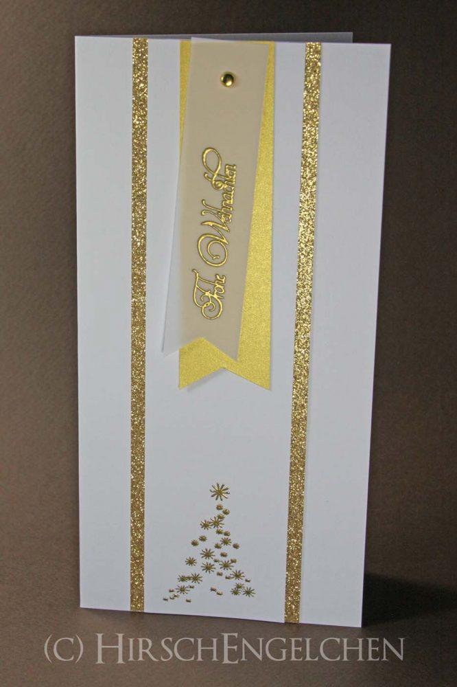 Weihnachtspost in weiß-gold DIN lang