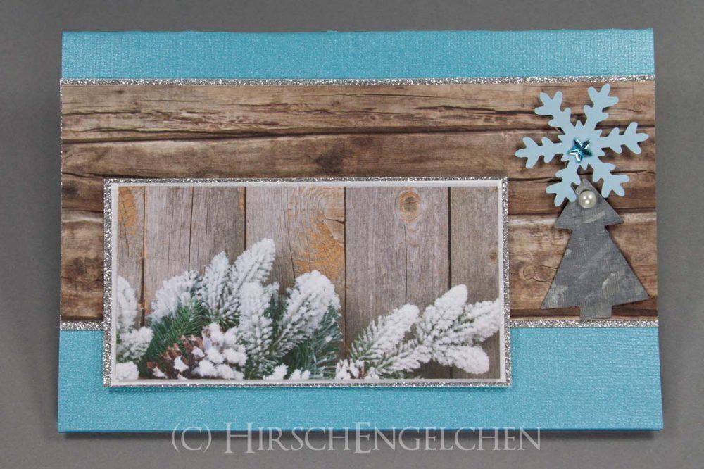 Weihnachtspost rustikal in Wintertönen