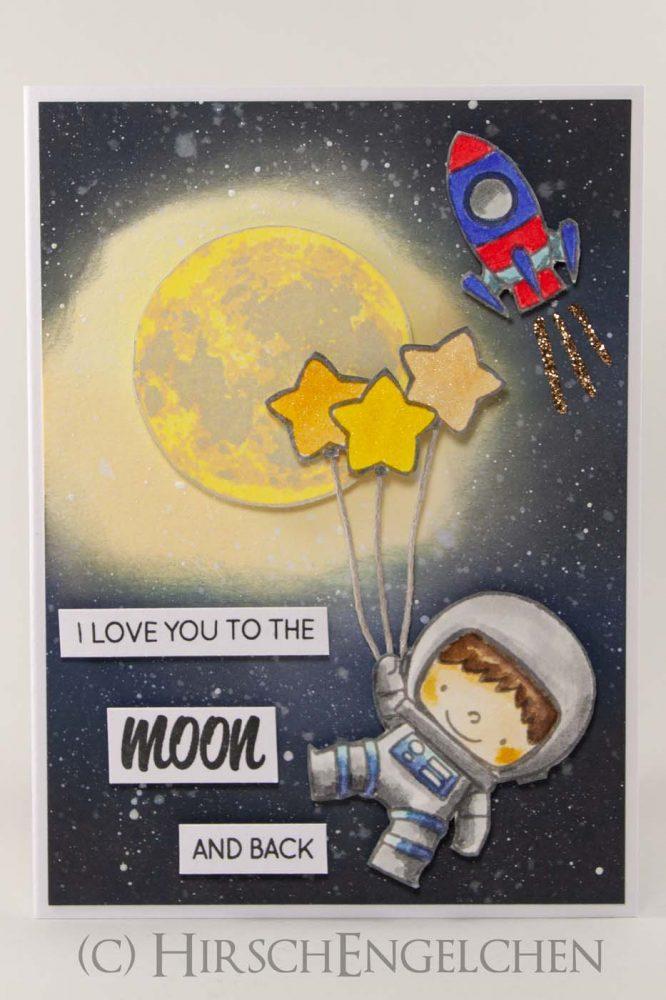 Astronaut Valentinskarte Front