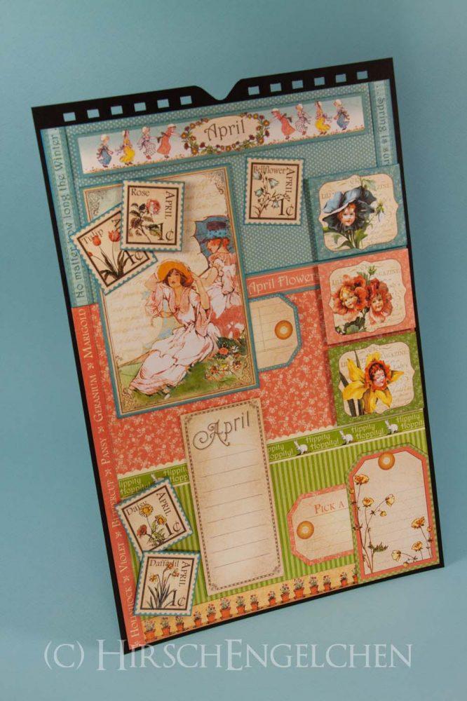 Geburtstagskalender mit Graphic 45 - April