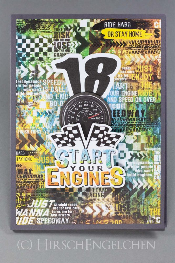 Motorsport Karte zur Volljährigkeit