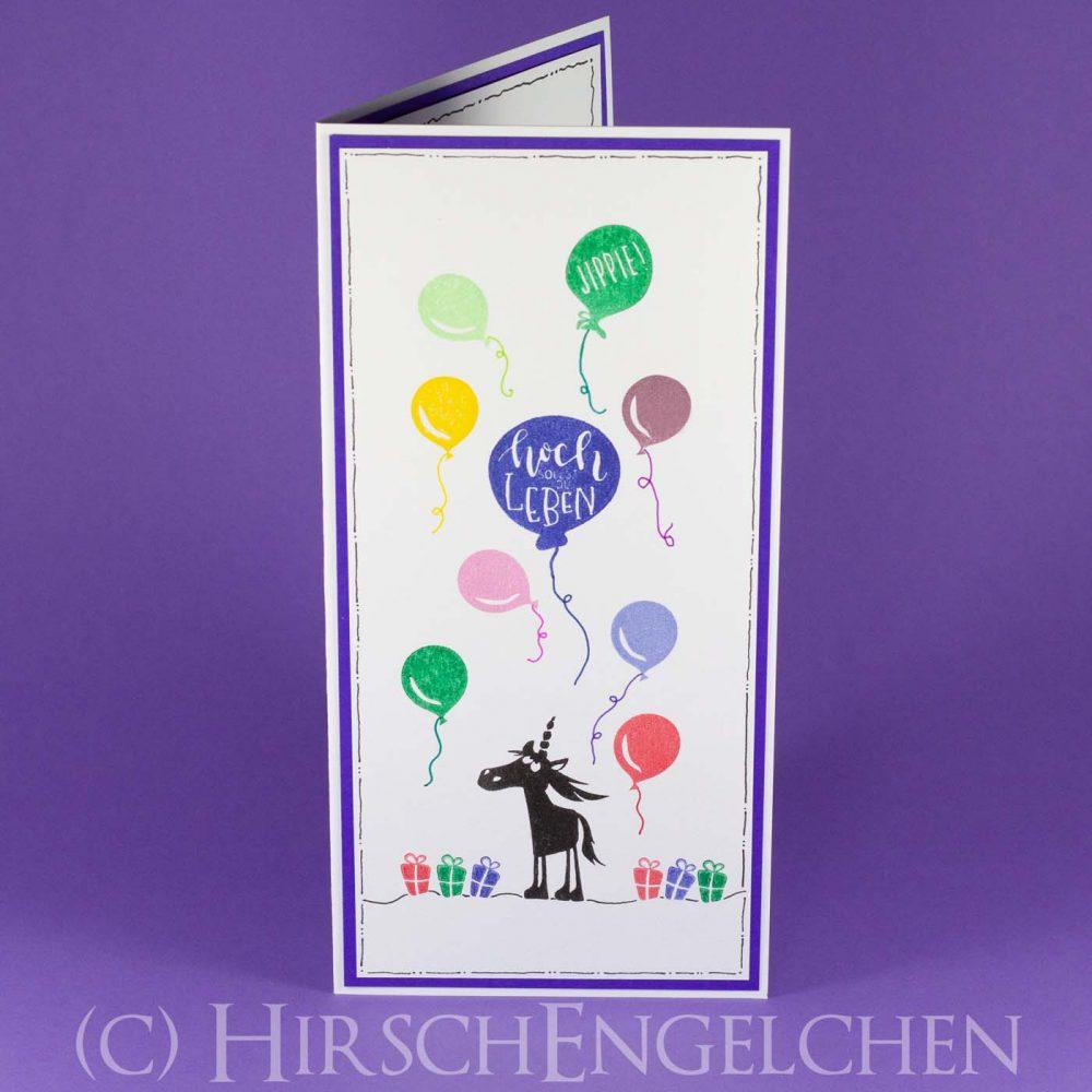 Geburtstags Luftballon Karte
