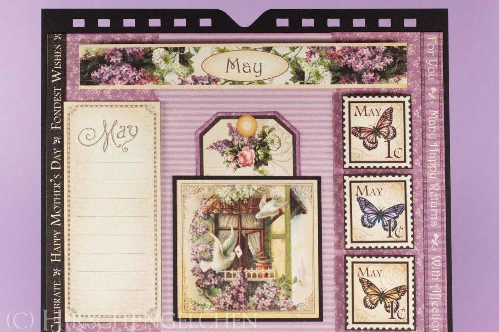 Geburtstagskalender mit Graphic 45 - Mai