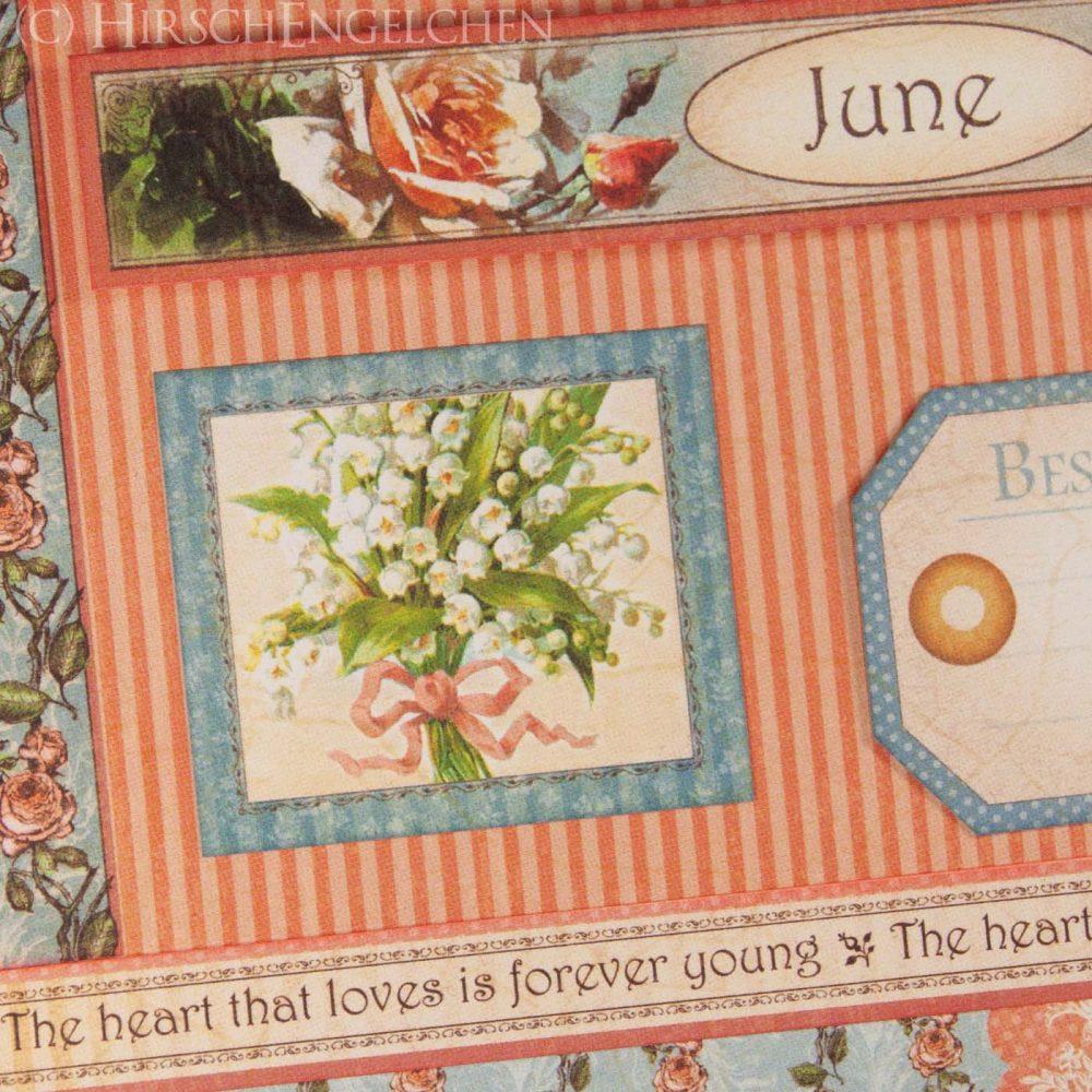 Geburtstagskalender mit Graphic 45 - Juni