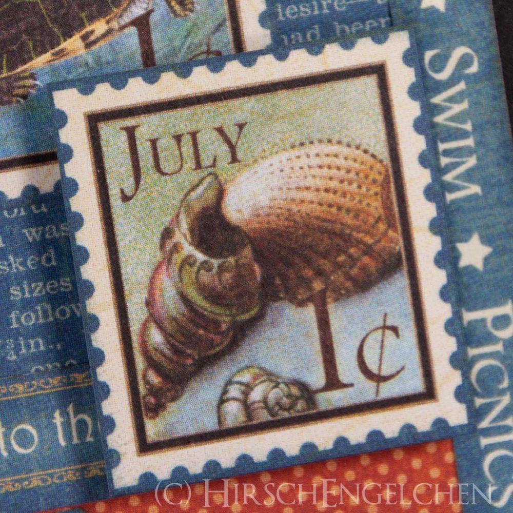 Geburtstagskalender mit Graphic 45 - Juli