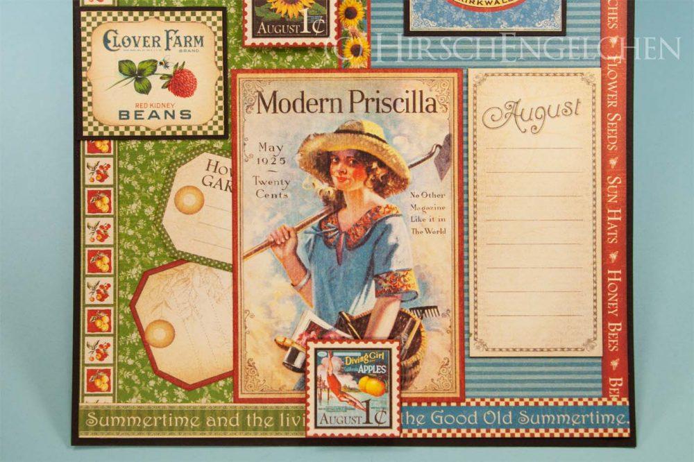 Geburtstagskalender mit Graphic 45 - August