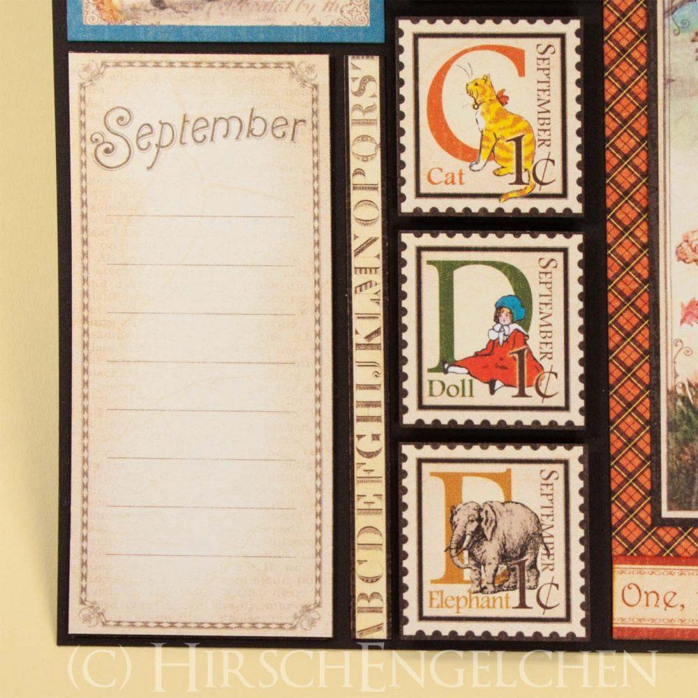 Geburtstagskalender mit Graphic 45 - September