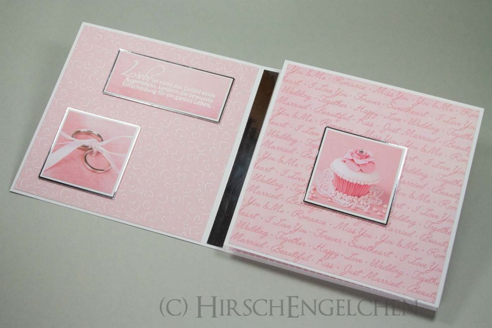 Verlobungskarte in rosa